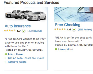 USAA Ratings System