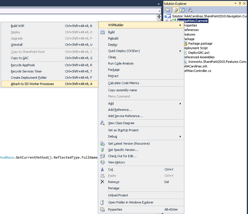 WSPBuilder-Attach to IIS Worked Processes