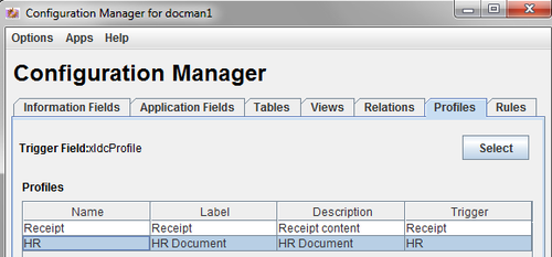 Configuration manager - profiles