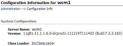 Server name from Configuration Information